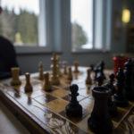 Schachecke für Schüler vor dem Lehrerzimmer